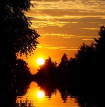 Sonnenuntergang im Dorf by Ilona Wargowski
