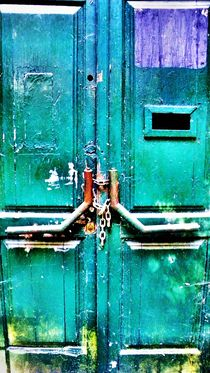 Closed green door! by tcl