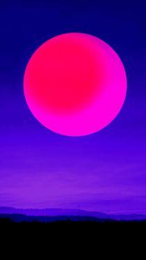 Blauer Sonnenuntergang von tcl