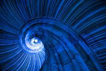 Wendelstein Blau als Kunstwerk auf Leinwand by Falko Follert
