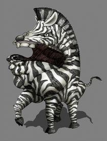 Zareb, the Guardian of the Zebras (Sketch) von Leon Li-Aun Sooi