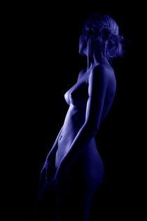 Frauenakt in blau von Sigi Müller