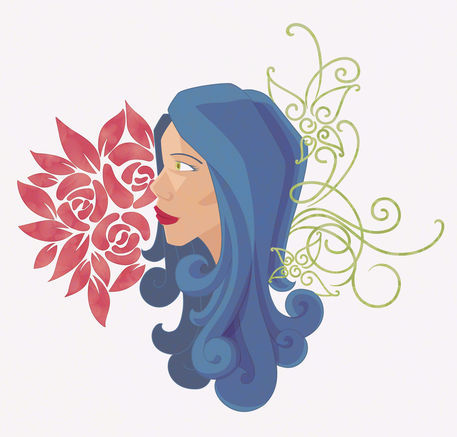 Flowers-and-swirls