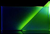 Lichtblicke - blaugrüne Dreicke & Rechteck von Gerald Albach