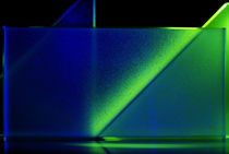 Lichtblicke - zwei blaugrüne Dreicke & Rechteck by Gerald Albach