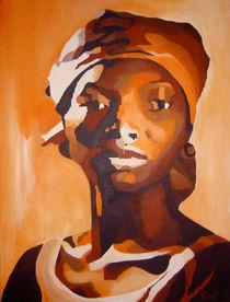Portrait orange von Sabine Freivogel