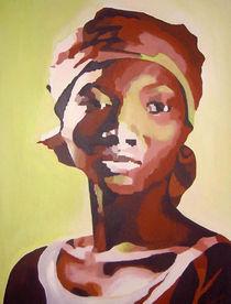 Portrait grün von Sabine Freivogel