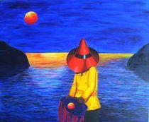 Meer,Roter Hut von Angelika Wegner