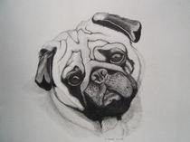 Mops,Hund von Angelika Wegner