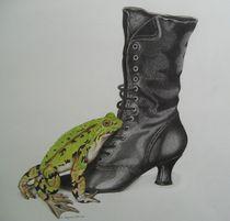 Frosch auf Stieflette  von Angelika Wegner