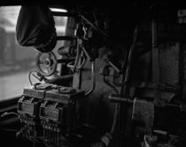 Heizerstand auf Dampflokomotive by lolly