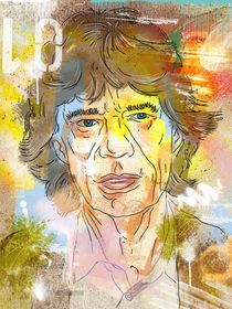 Mick Jagger by Oliver Muth