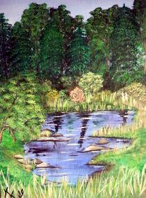 Teich im Wald by Kathrin Körner