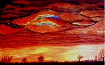 Kumuluswolken im Feuer von Kathrin Körner