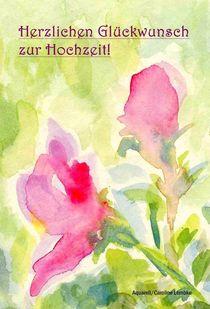 Hochzeitskarte - Florale Zartheit  by carolinelembke