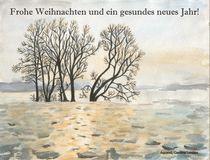 Weihnachtskarte - Bäume im Winter by carolinelembke