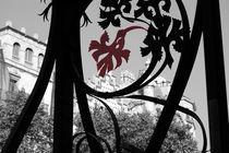 BARCELONA schwarz-weiß-rot III von julita