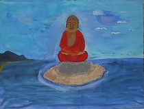 Buddha meditierend im See by Andre Swami Prem Tabda De Homont