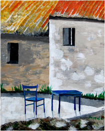 Blauer Stuhl von Thomas Spyra