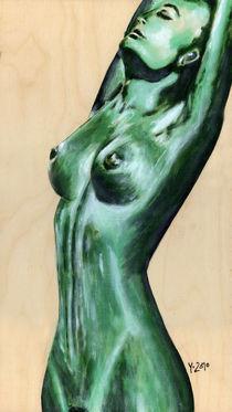 Akt grün II - nude green II by Yvonne Lautenschläger