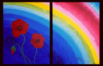 Regenbogen mit Mohnblumen by anoreng