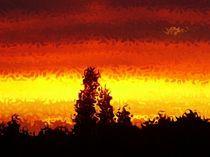 Sonnenuntergang feurig by tabeaskunstwelt
