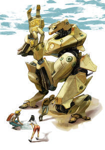 "Kneeling Robot by Manuel ""lolo"" Guzman"
