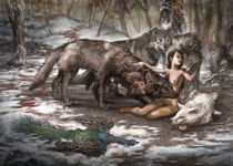 """She of the wolf by Manuel """"lolo"""" Guzman"""