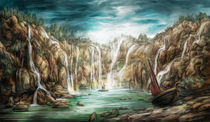 """Waterfalls meditation von Manuel """"lolo"""" Guzman"""