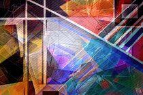 Color cube lines. Wallpaper. von Bernd Vagt