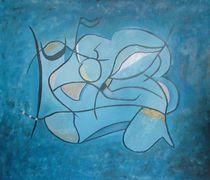 Vier Jahreszeiten blau von Sonja Blügel