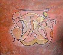 Vier Jahreszeiten orange von Sonja Blügel