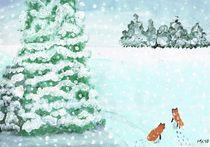 Foxes In the Midwinter / Füchse im Winter by Mischa Kessler