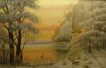 Abend am See von Jürg Meyerholz
