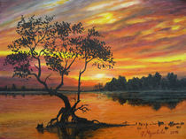 Sonnenuntergang am See by Jürg Meyerholz