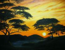 Sonnenaufgang in der Savanne by Jürg Meyerholz