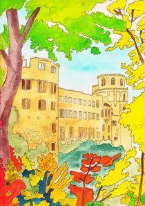 Heidelberger Schloss im Herbst von michaba