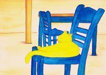 yellow cat von michaba
