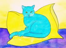turquoise cat von michaba