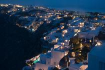 Santorin - Oia Nachtaufnahme von Franz STOCKREITER