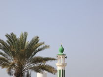 Minarett einer Moschee im Sultanat Oman, Asien von Willy Matheisl