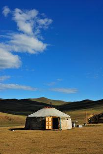 Nomaden Ger - Mongolei von Johann Loigge