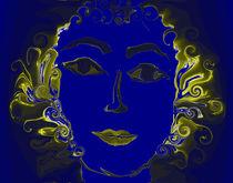 Die blaue Frau by inti