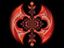 Muster, rot von inti