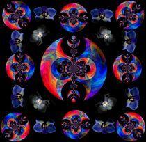 Muster  schwarzgrundig-bunt von inti