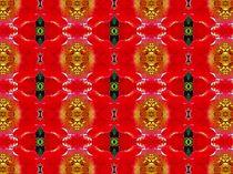 Muster   leuchtendrot mit gold von inti
