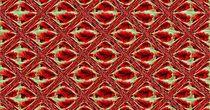 Muster  rote Rosenkacheln von inti