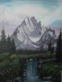 Wasserfall in den Bergen by kiene