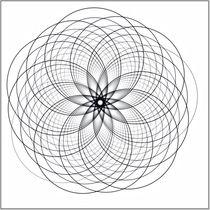 Mandala weiß von fraktalise