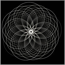 Mandala schwarz von fraktalise